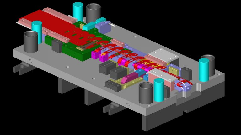 Progressive Die 3D Design for Production Metal Stamping